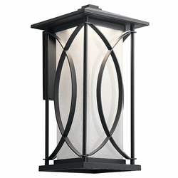 "Kichler Ashbern LED 18.25"" Outdoor Wall Lantern 49975BKTLED"