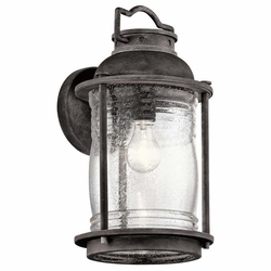 "Kichler Ashland Bay 16"" Outdoor Wall Sconce Lighting - Zinc 49571WZC"