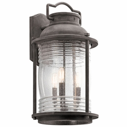 "Kichler Ashland Bay 21.5"" Outdoor Wall Light - Zinc 49668WZC"