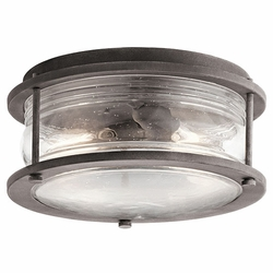 Kichler Ashland Bay Flush Mount Outdoor Light - Zinc 49669WZC