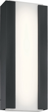 "Kichler Ashton LED 20"" Exterior Wall Light - Black 49799BKTLED"