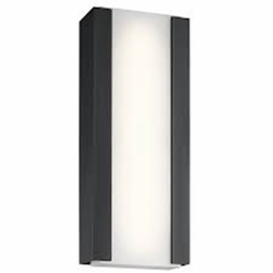 "Kichler Ashton LED 24"" Outdoor Lighting Sconce - Black 49800BKTLED"