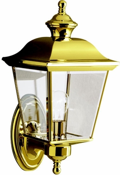 "Kichler Bay Shore 15.5"" Exterior Wall Sconce - Brass 9712PB"