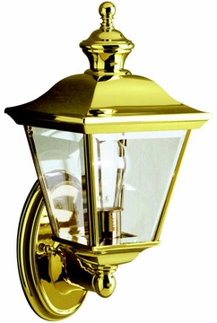 "Kichler Bay Shore 20"" Outdoor Wall Lamp - Brass 9713PB"