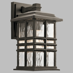 "Kichler Beacon Square 12"" Outdoor Wall Lighting 49829OZ"