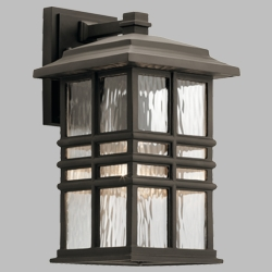 "Kichler Beacon Square 14.25"" Outdoor Wall Sconce 49830OZ"