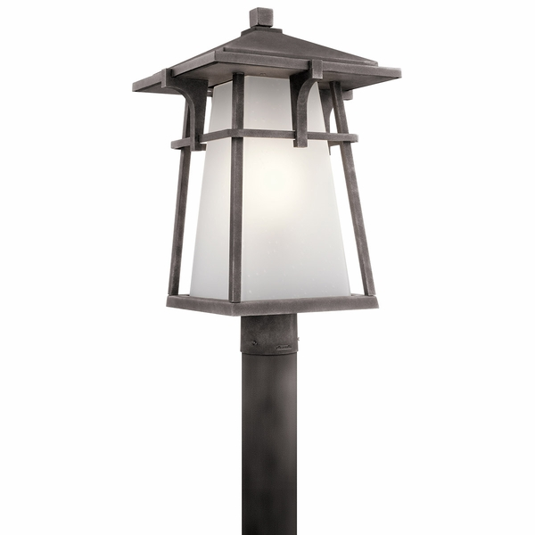 Kichler beckett outdoor post lighting 49724wzc mozeypictures Image collections