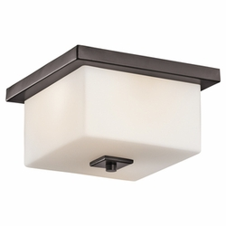 Kichler Bowen Outdoor Flush Mount Light - Contemporary 49343AZ