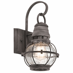 "Kichler Bridge Point 13.25"" Outdoor Lighting Sconce - Zinc 49627WZC"