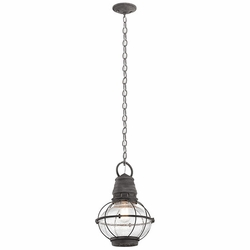 Kichler Bridge Point Nautical Outdoor Lighting Pendant - Zinc 49632WZC