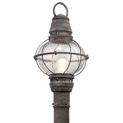 Kichler Bridge Point Zinc Outdoor Post Light - Nautical 49631WZC