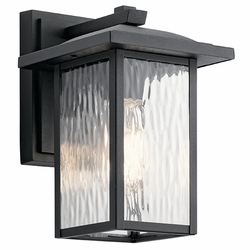 "Kichler Capanna 10.25"" Outdoor Wall Mounted Light 49924BKT"