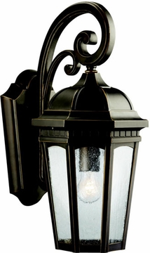 "Kichler Courtyard 17.75"" Outdoor Wall Lantern - Bronze 9033RZ"