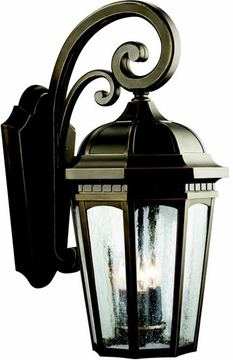 "Kichler Courtyard 22.25"" Outdoor Wall Lighting Fixture - Bronze 9034RZ"