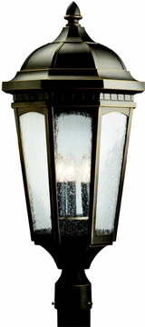"Kichler Courtyard 27"" Outdoor Post Lantern - Bronze 9533RZ"
