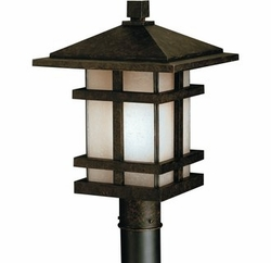"Kichler Cross Creek Craftsman 17"" Outdoor Lighting Post Lamp 9529AGZ"