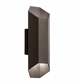"Kichler Estella 12"" LED Exterior Wall Light - Bronze 49607AZTLED"