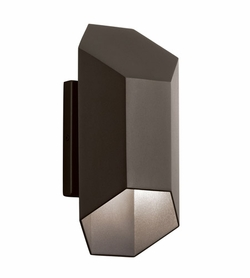 "Kichler Estella 16.5"" LED Outdoor Wall Lantern - Bronze 49608AZTLED"