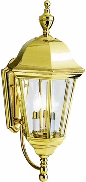 "Kichler Grove Mill 23.75"" Outdoor Wall Sconce - Brass 9489PB"