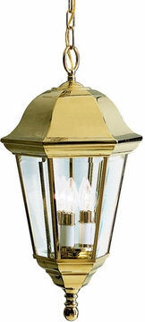 Kichler Grove Mill Outdoor Hanging Lamp - Brass 9889PB