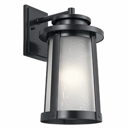 "Kichler Harbor Bay 18.5"" Outdoor Wall Lantern 49919BK"