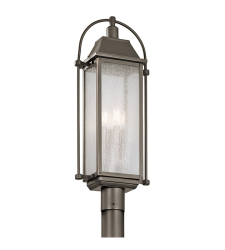 Kichler harbor row post light fixture bronze 49717oz aloadofball Gallery