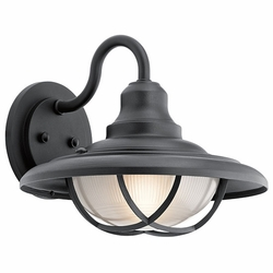"Kichler Harvest Ridge 12.5"" Exterior Wall Sconce - Black 49693BKT"
