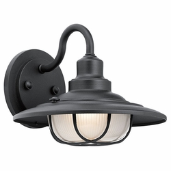 "Kichler Harvest Ridge 9"" Outdoor Wall Lamp - Black 49691BKT"