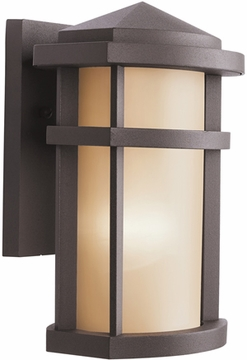"Kichler Lantana 10"" Outdoor Wall Sconce Lighting - Bronze 9166AZ"