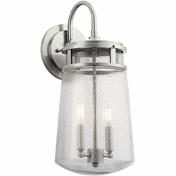 "Kichler Lyndon 15"" Exterior Wall Lighting - Brushed Aluminum 49445BA"