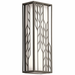 "Kichler Magnolia 16"" LED Exterior Wall Sconce - Bronze 49605OZLED"