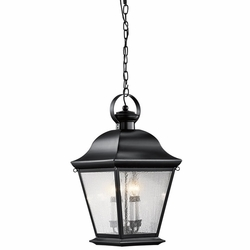 "Kichler Mount Vernon 26"" Hanging Outdoor Light - Black 9804BK"