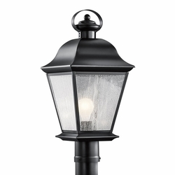 Kichler Mount Vernon Outdoor Post Lighting Fixture - Black 9909BK