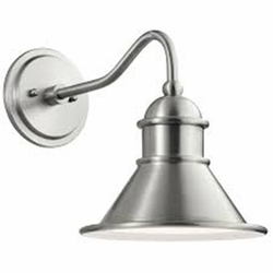 "Kichler Northland 12"" Outdoor Wall Lamp - Brushed Aluminum 49775BA"