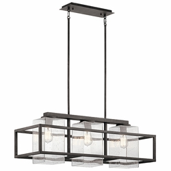 Kichler Outdoor Weathered Zinc Chandelier 49805WZC