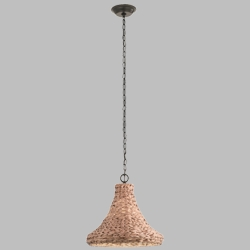 Kichler Palisades Outdoor Hanging Light - Natural Shade 49808OZNW