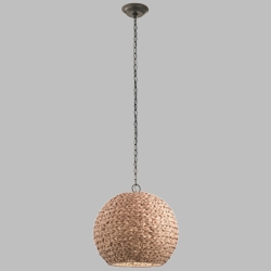Kichler Palisades Outdoor Pendant Lamp - Natural Shade 49809OZNW