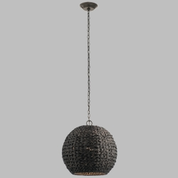 Kichler Palisades Outdoor Pendant Light Fixture - Chestnut Shade 49809OZCW