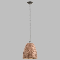 Kichler Palisades Outdoor Pendant Light - Natural Shade 49806OZNW