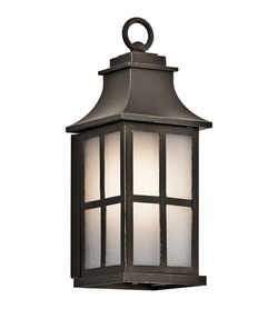 "Kichler Pallerton Way 14.25"" Outdoor Wall Lighting - Bronze 49579OZ"