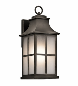 "Kichler Pallerton Way 17.5"" Outdoor Wall Sconce - Bronze 49580OZ"