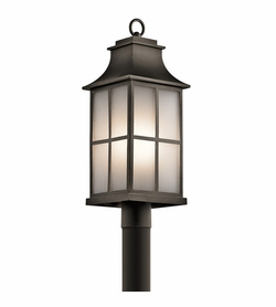 Kichler Pallerton Way Bronze Outdoor Post Lantern 49583OZ