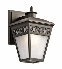 "Kichler Park Row 10"" Bronze Exterior Wall Sconce - Traditional 49611OZ"