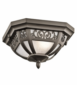 Kichler Park Row Bronze Outdoor Ceiling Lighting - Traditional 49616OZ