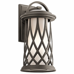"Kichler Pebble Lane Bronze 18.5"" Outdoor Wall Lighting - Transitional 49683OZ"