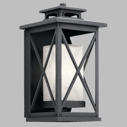 "Kichler Piedmont 15"" Outdoor Wall Lighting 49771DBK"
