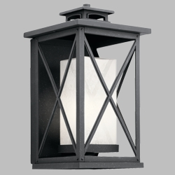 "Kichler Piedmont 18"" Outdoor Wall Sconce 49772DBK"