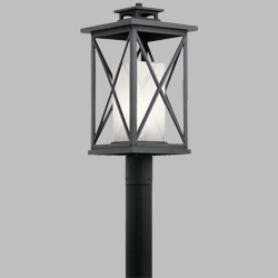 Kichler Piedmont Outdoor Post Light Fixture 49773DBK