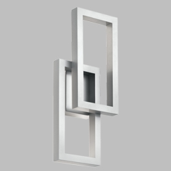"""Kichler Rettangolo 19"""" Platinum LED Outdoor Wall Mount 49802PLLED"""