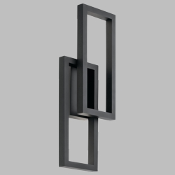 "Kichler Rettangolo 24"" Black LED Outdoor Wall Mounted Light 49803BKTLED"